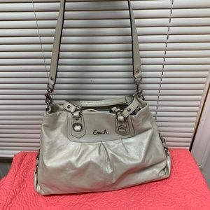 Coach Ashley Leather Ivory Cream Satchel